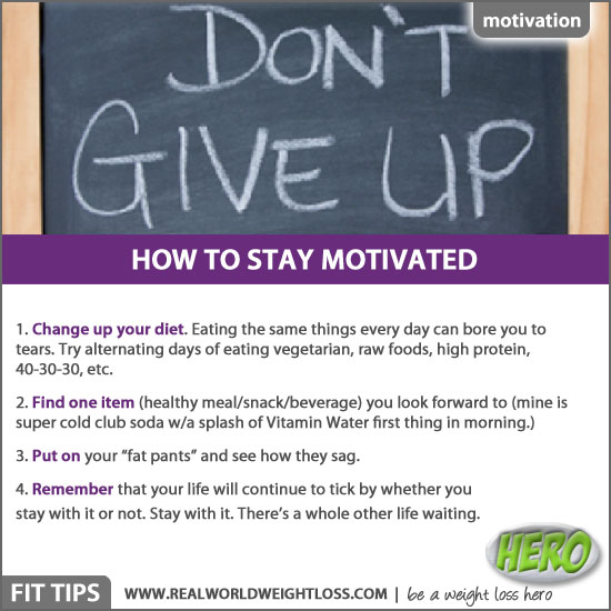 Staying motivated with weight loss
