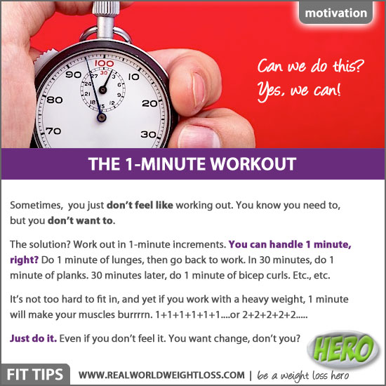 The 1 minute workout