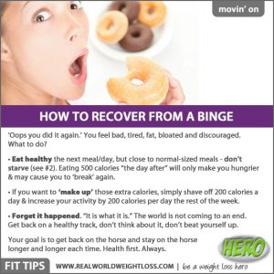 Overcoming an eating binge