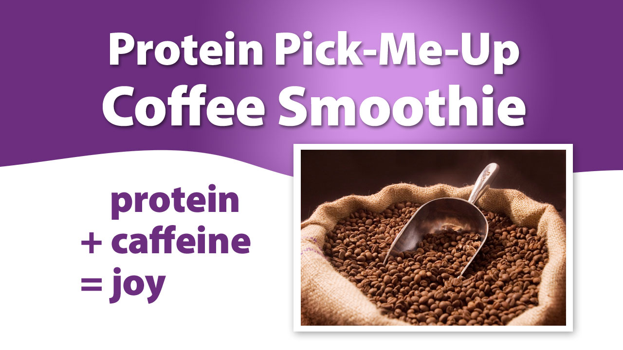 Protein coffee smoothie for breakfast