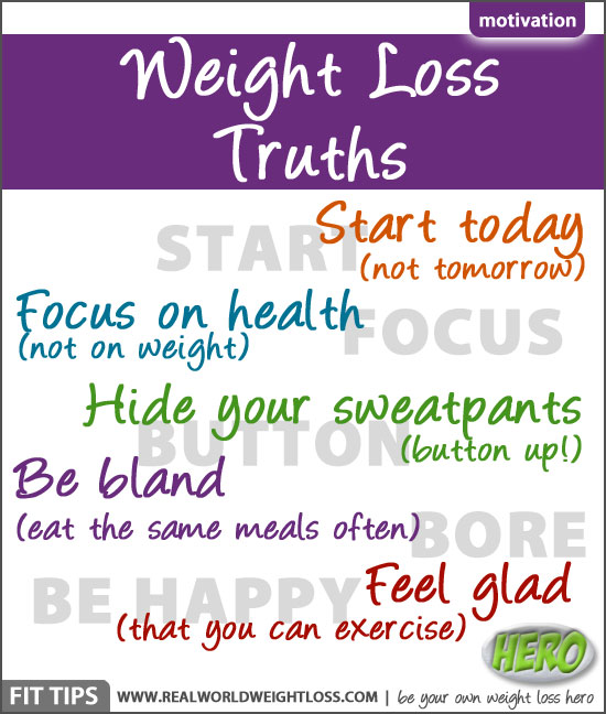 Simple truths about weight loss