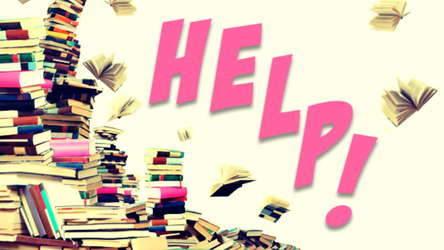 pile of books - help