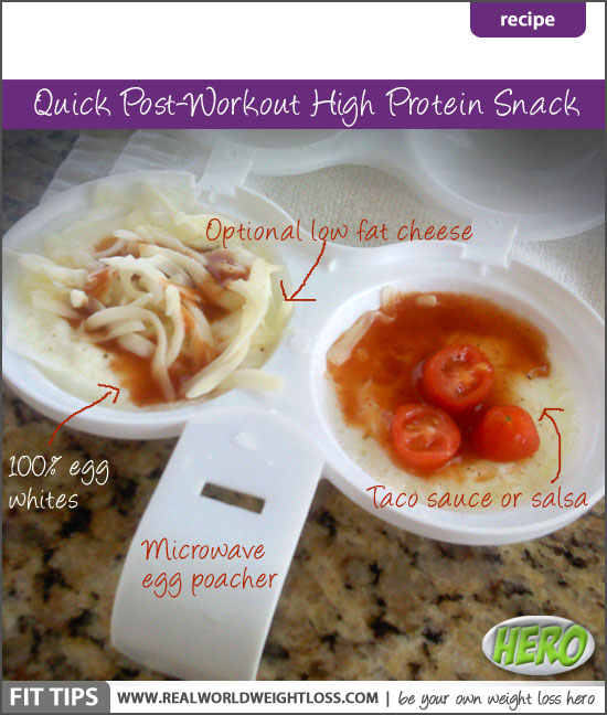 High protein egg white cups post workout