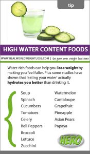 Eat your water for weight loss