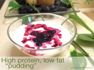 Low fat high protein dessert