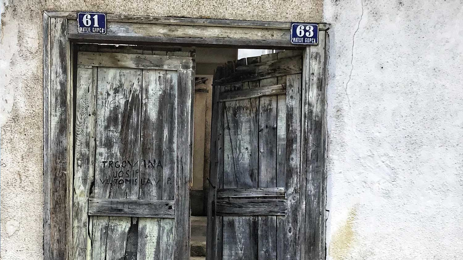 Old door in Mostar Bosnia
